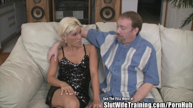 Blonde Small Tits Wife Fucks and Swallows Cum