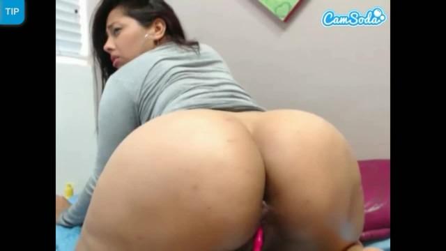 Big Ass Latina Dildo Masturbation on Cam Show
