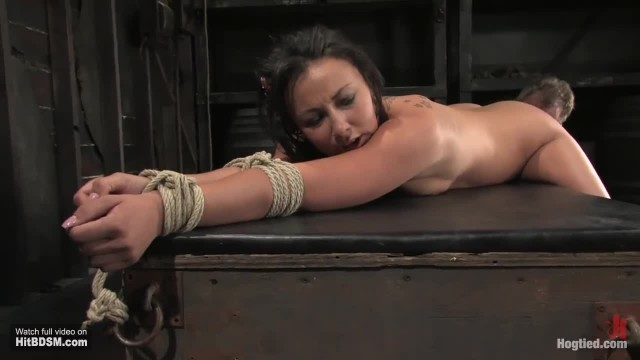 Biaca Ass Elevated Bondage, Whipped Hard, Ass Hooked and Orgasmed