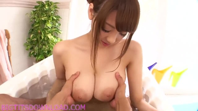 Busty Japanese in a Bath Tub