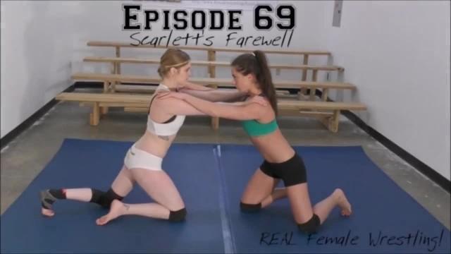 Scarlett's Farewell! Monroe vs Scarlett - Real Female Wrestling!