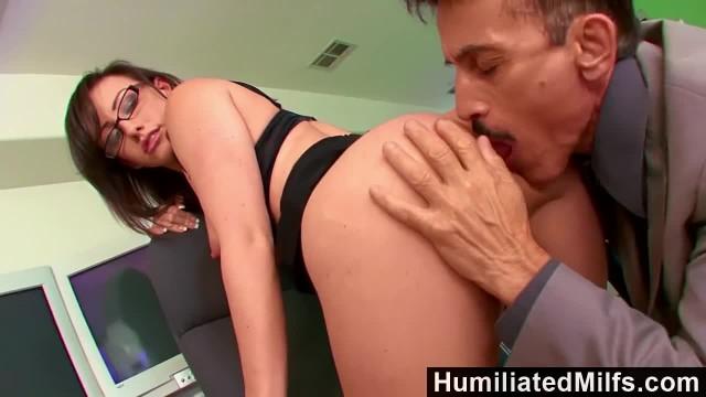 HumiliatedMilfs - Jennifer White Bent over the Office Chair & Boned!