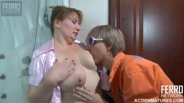 A Young Russian Boy and Mature Russian Woman