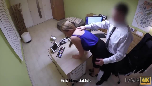 LOAN4K. Blonde Arrives at The Borrowing Agency and Has Wild Sex for Money