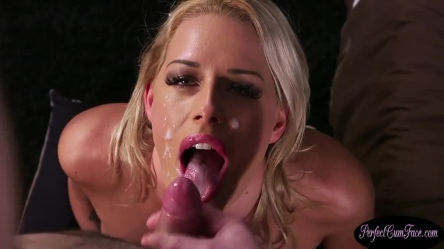 Busty British MILF Jizzed on Face in POV