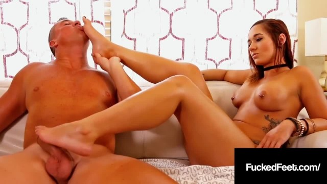 Hot Blonde Autumn Borelli Loves Fucking Cock with her Feet!