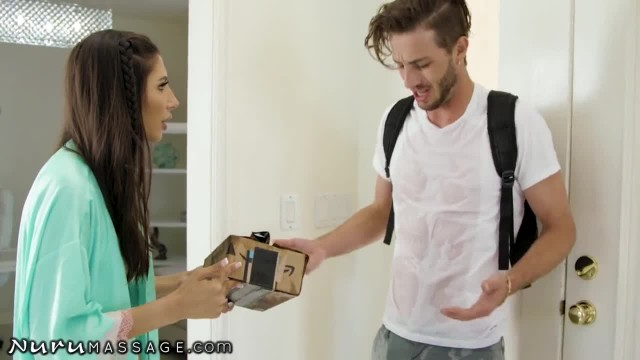 NuruMassage Lucky Delivery Guy Showers with Gianna Dior