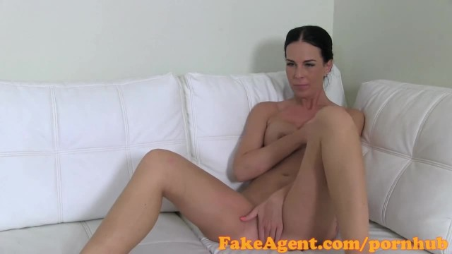 FakeAgent Brunette Takes first Time Creampie in Casting