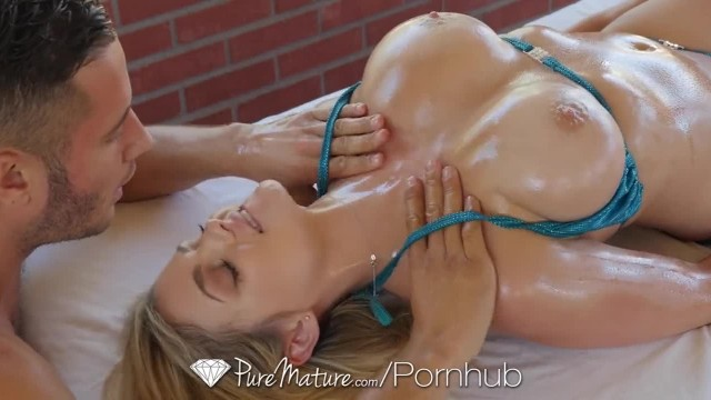 PUREMATURE Huge Breasted Mature MILF gets Rubbed down