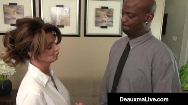 Busty MILF Boss Deauxma Banged by Big Black Cock Underling!