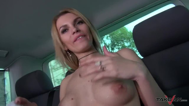 Picked Up Hot Blonde Covered in Cum in The TakeVan