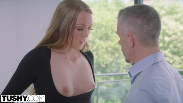 TUSHY Shy Intern Secretly wants to be Gaped by her Boss