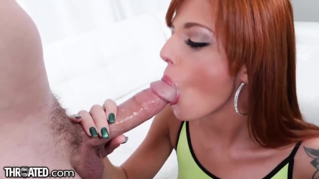 THROATED Brutal Redhead Face Fuck