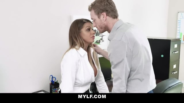 MYLF - Sexy Tan MILF Fucks her Boss for a Raise