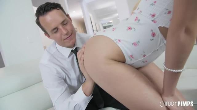 Blonde Cutie Kiara Cole Loves when Stiff Cock Throbs her Tight Pussy