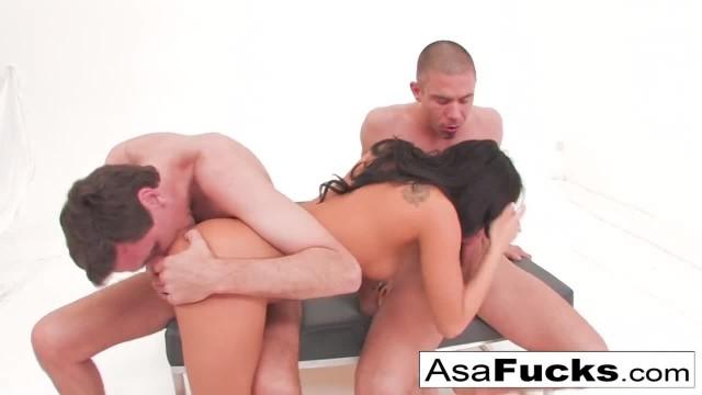 Asa Akira's Double Anal and Double Penetration