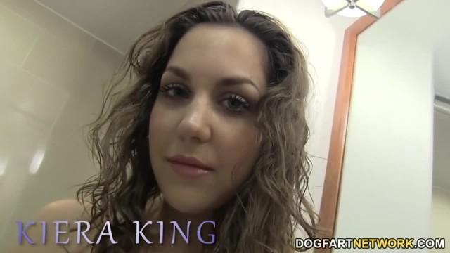 Kiera King Takes BBC Anal in the Bathroom