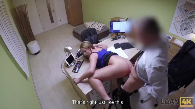 LOAN4K. Inexperienced Chick Passes Sex Casting in Credit Agency