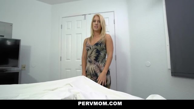 PervMom - Sexy Blonde Cougar Wakes up Stepson with BJ