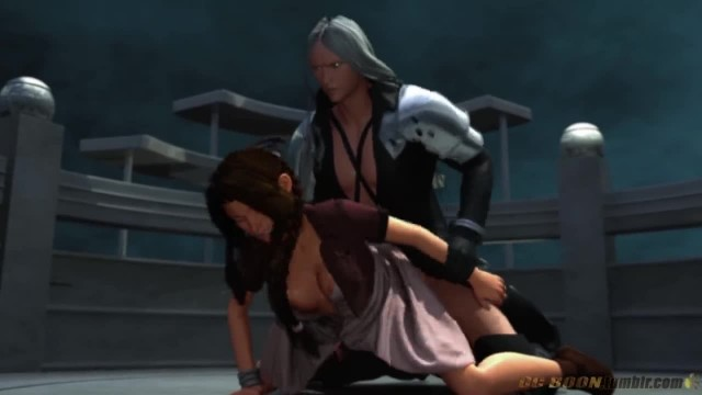 Final Fantasy 7 Aerith and Sephiroth