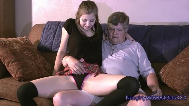 Kinky Teen Fucking Chubby Old Man
