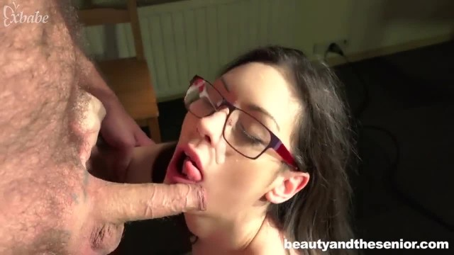 Girl Eating old Grandpa's Fat and Hairy Asshole