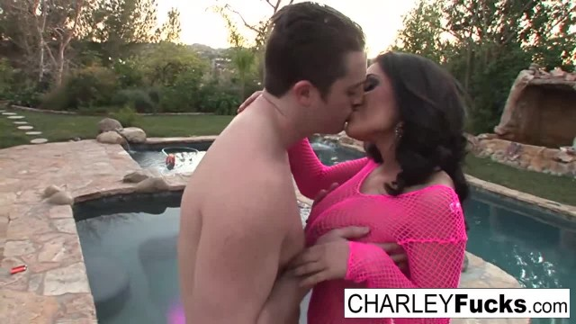 Charley Chase gets Fucked near the Pool