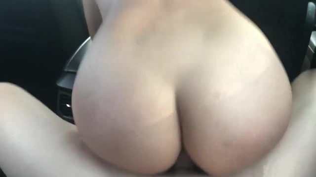 Horny Latina Rides me in her Husbands Car while he gets Groceries