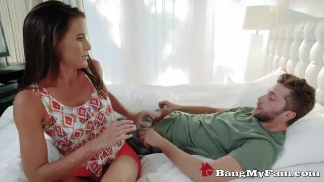 Caring Cougar Stepmom Sofie Marie Sucks & Fucks her Sick Son's Cock