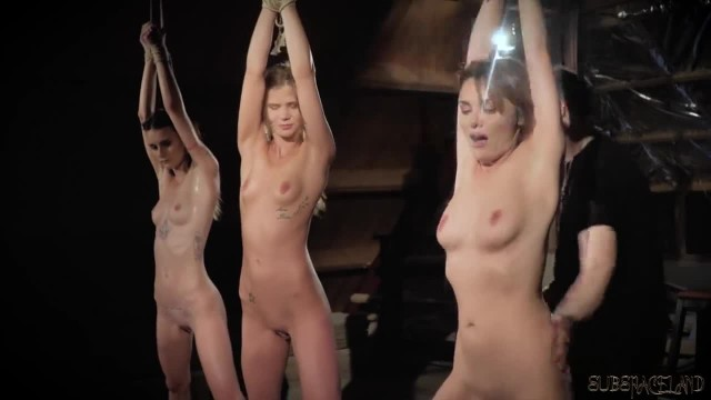Three Teen Slaves Punished and Humiliated by the BDSM Master