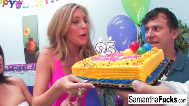 Samantha Celebrates her Birthday with a Wild Crazy Orgy