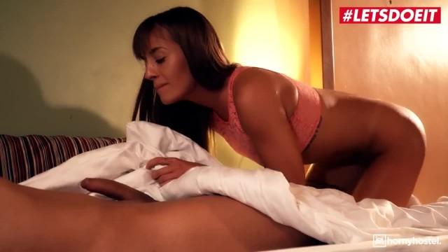 LETSDOEIT - Horny Teens get Caught on Camera Fucking in Hostel