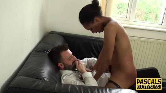 Wam Fetish Ebony Babe Rides and Throats