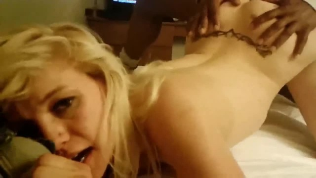 Blonde Emo Girlfriend Fucks Black Bull