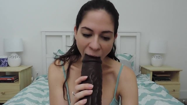 Brunette Kinky Babe Playing with her Big Sex Toys