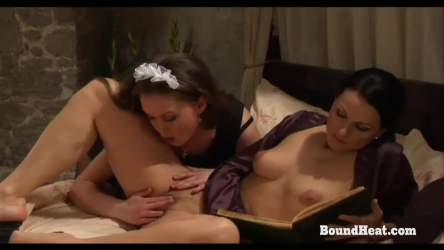 On Consignment 3:beautiful Busty Lesbian Madame Orgasms under Maid's Tongue