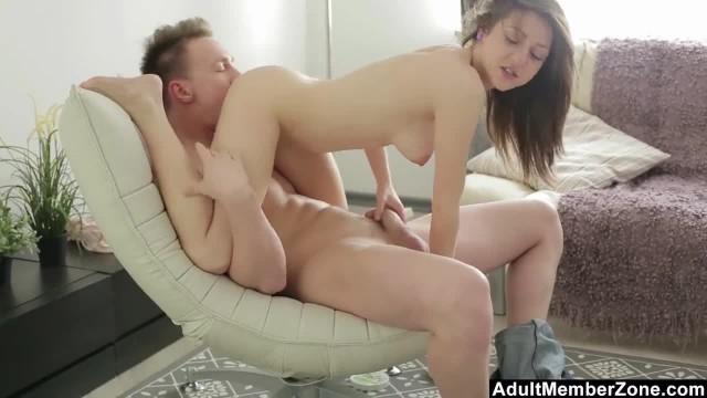 Young Couple uses Acrobatic Skills to Fuck Hard