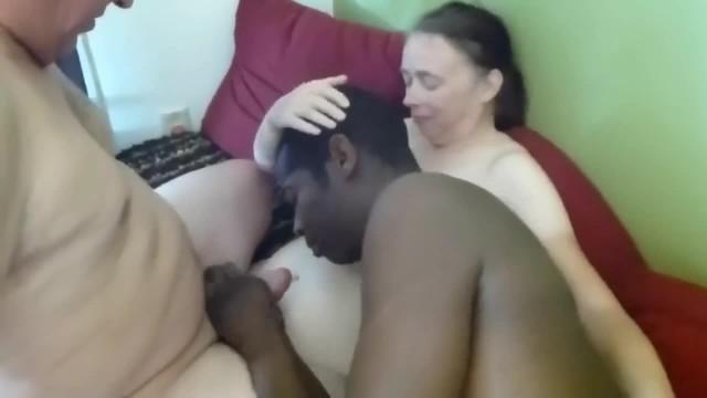 Interracial Party and Bi Cock Sucking