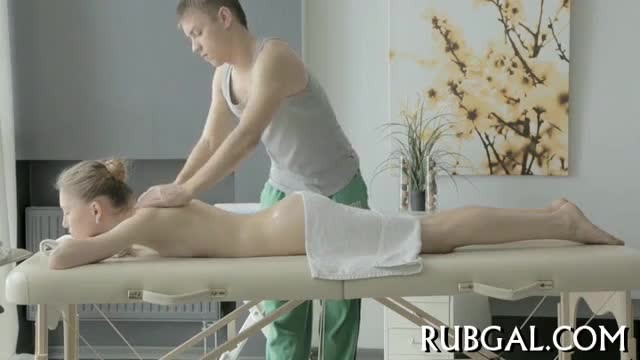 Young Blondie Gets Pussy Massage