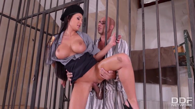 Crazy Hot Prison Guard Patty Michova Fucks Prisoners Big Dick