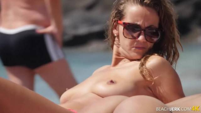 Voyeur POV with stunning nude babes filmed without knowing at the beach