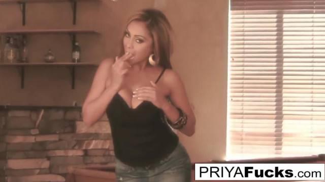 Game on as Priya uses her Billiards Table to Masturbate on