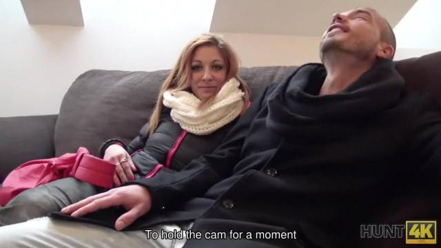 Hunt4K Cuckold Cant Stop his Girlfriend Selling her very Hot Body