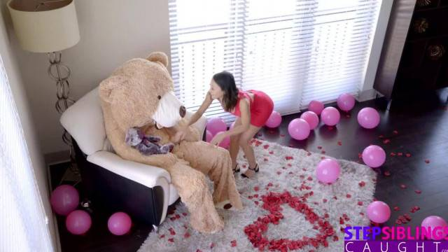 Stepbrother becomes his sister valentine lifesize teddybear fuckdoll