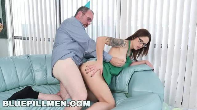 19 year old Akira Shell becomes sex present for dirty old man