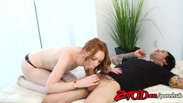 Hot Ginger Katy Kiss got Cum inside her Pink Pussy