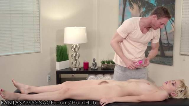 FantasyMassage Chloe got a Big Dick Masseur for 18th BDay