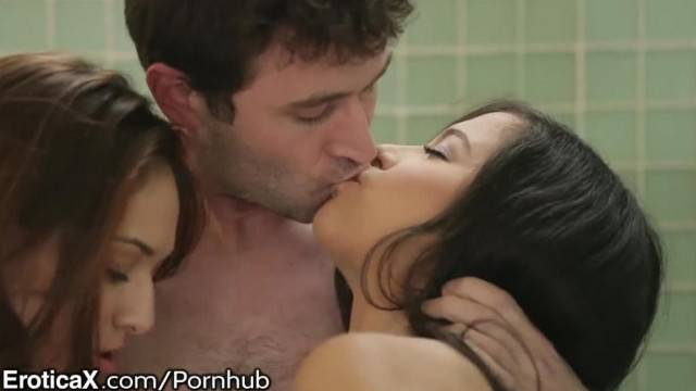 James Deen s Sensuality with 2 Lust Filled Brunettes
