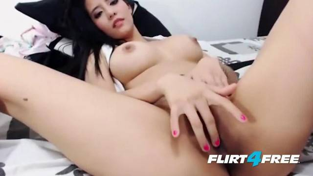 Exotic Asian Beauty Micha Latina Plays with her Bangin Body