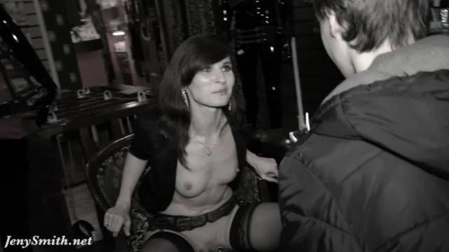 Jeny Smith Naked Sales Girl Meet Customers in a Sex Shop